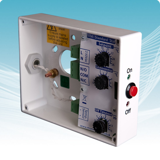 E814 Standard Tamperproof Thermostat   On  Off Control